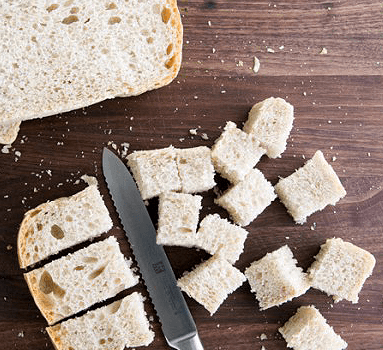 Гренки из белого хлеба в духовке - фото шаг 2