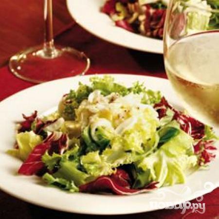 Зимний салат со свежей зеленью - фото шаг 5