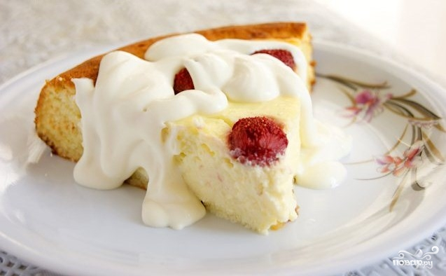 Творожный пирог с бисквитным тестом - фото шаг 10