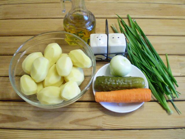 Рецепт Картошка с солеными огурцами