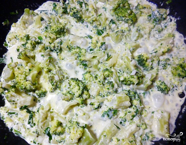 Соус из брокколи для рыбы - фото шаг 4