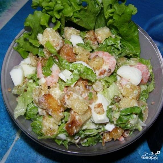 Салат с сухариками - фото шаг 10