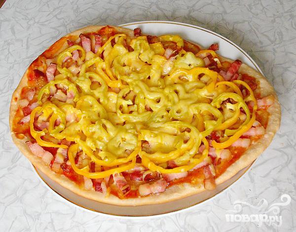 Пицца с колбасой - фото шаг 5