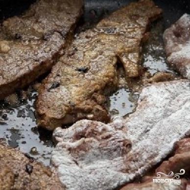 Печень с луком - фото шаг 3