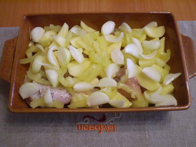 Курица в духовке с овощами и картофелем - фото шаг 3