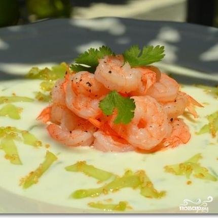 Салат с креветками в лаймовом соусе - фото шаг 11