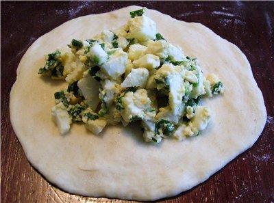 Пирожки с яйцом на сковороде - фото шаг 8