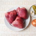 Рецепт Сердце тушеное с солеными огурцами