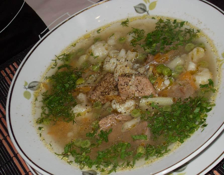 Суп с овощами и мясом - фото шаг 8