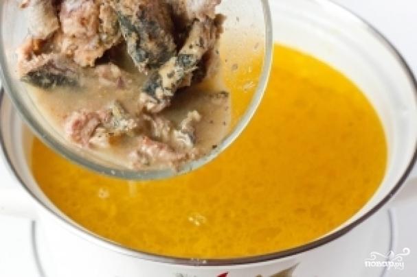 Суп консервы сардины рецепт фото