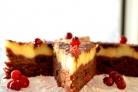 Брусничный торт с белым шоколадом