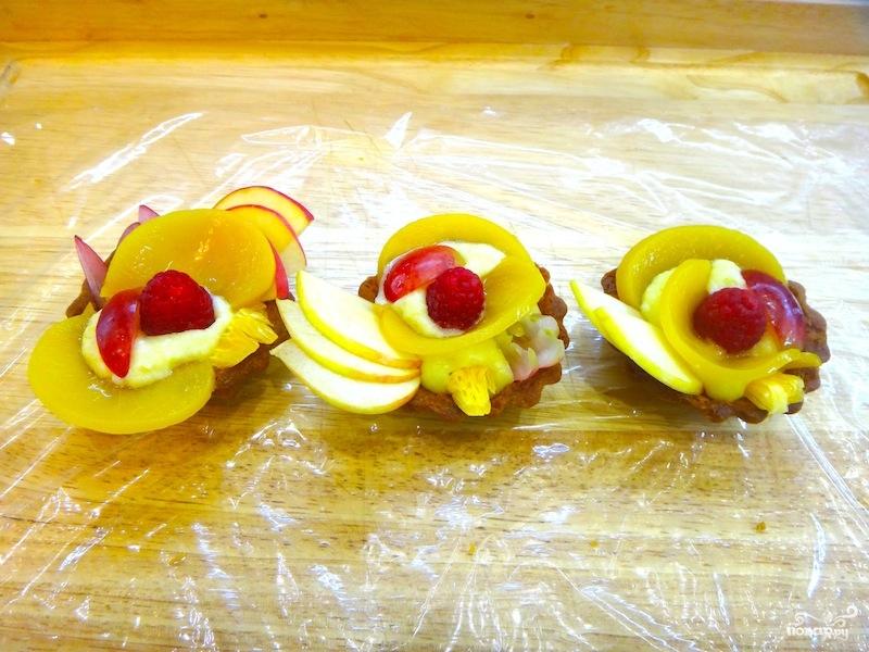 Тарталетки с фруктами в желе - фото шаг 18