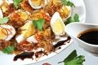 Закуска из жареных яиц