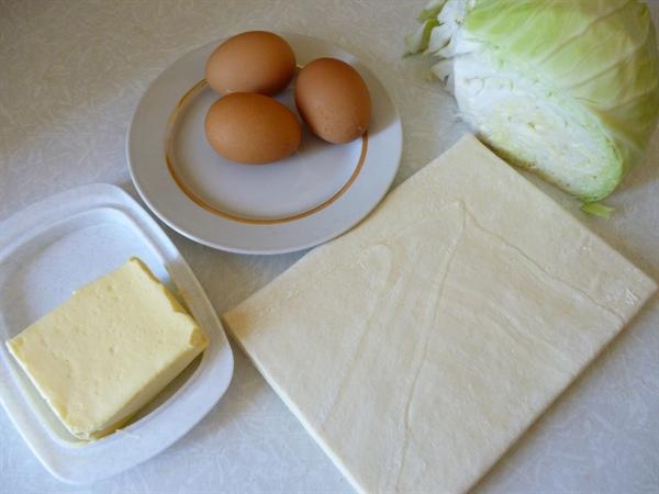 Капустный пирог с яйцом - фото шаг 1