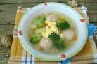 Детский суп с фрикадельками