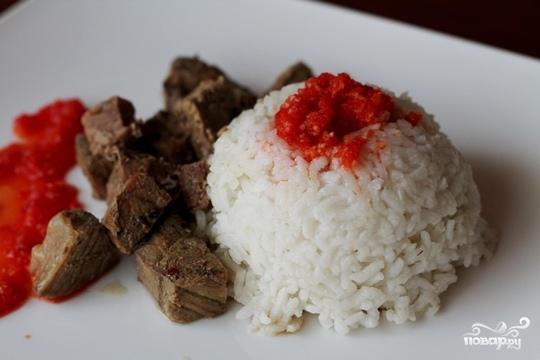 Рецепт Говядина с рисом в мультиварке