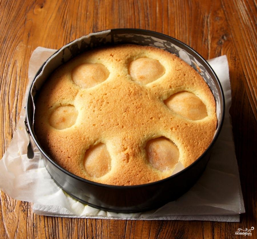 Бисквит с грушами - фото шаг 4