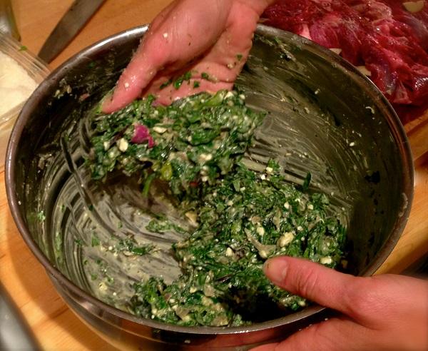Баранина с зеленью - фото шаг 3