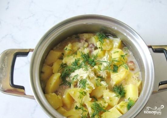 Свинина со сметаной и картофелем - фото шаг 3