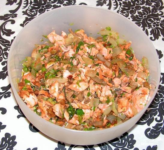 Рисовые блинчики с лососем - фото шаг 3