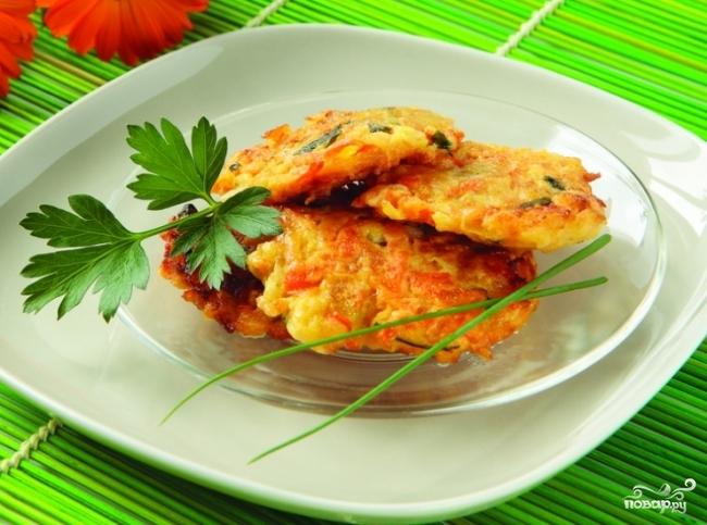 Рецепт Оладьи из кабачков и моркови
