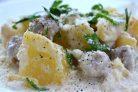 Картофель со сливочным соусом