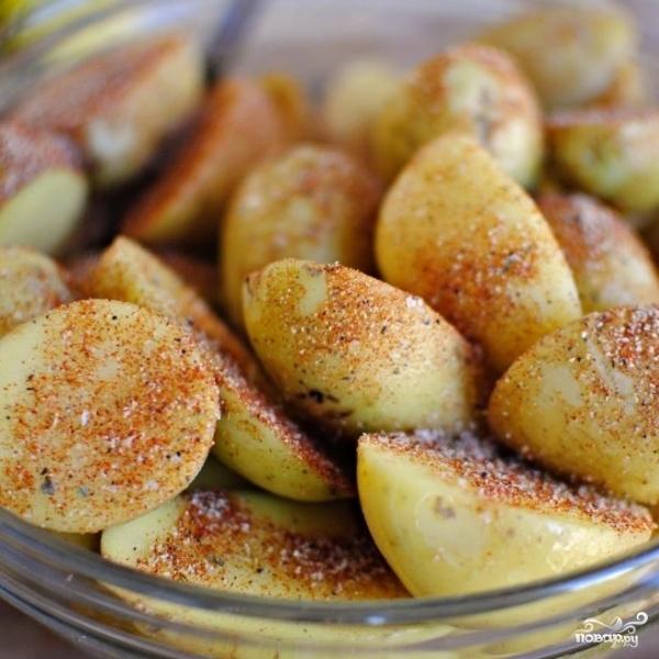 Пряный картофель по-французски - фото шаг 6
