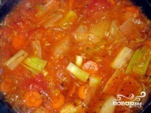 Рис с луком-пореем - фото шаг 4