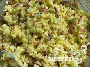 Хрустящий салатик с кедровыми орехами - фото шаг 5