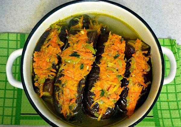 Баклажаны с морковкой фаршированные - фото шаг 6