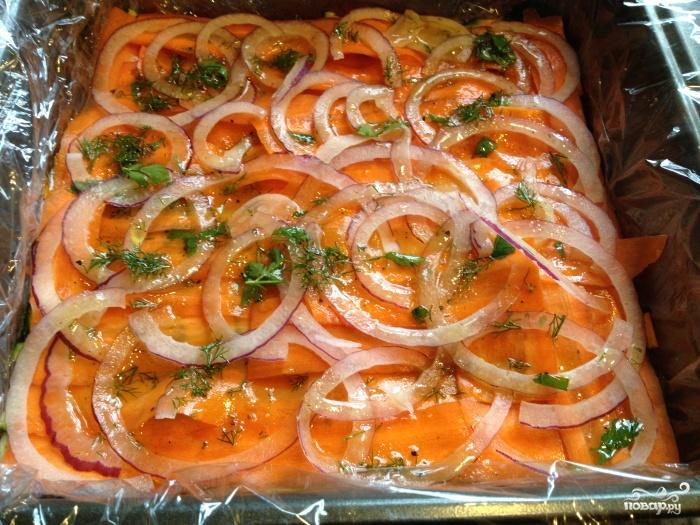 Слоеный салат с морковью - фото шаг 8