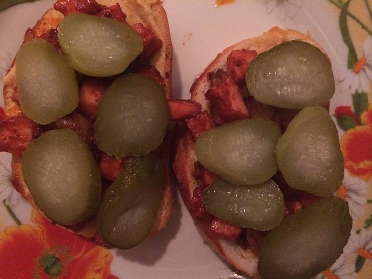 Тосты с ветчиной и овощами - фото шаг 5