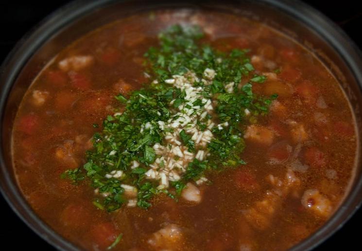 Фасолевый суп с рисом - фото шаг 5