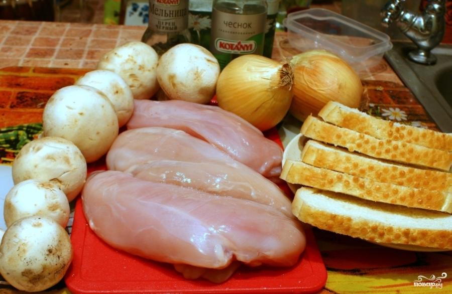 Рецепт Куриные котлеты с шампиньонами