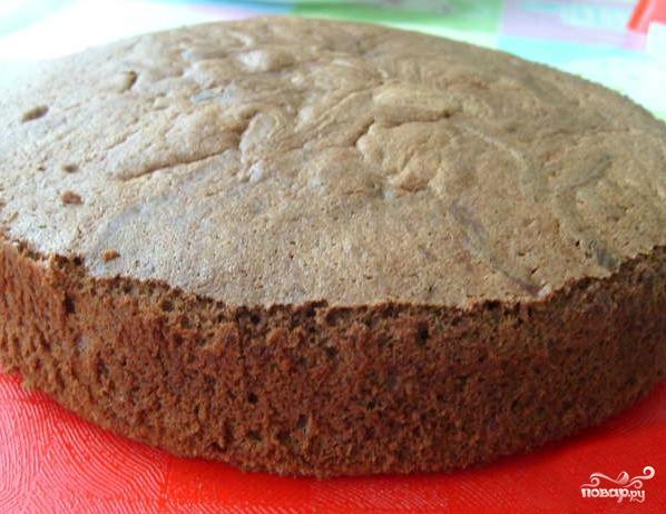 Шоколадно-кокосовый торт - фото шаг 3
