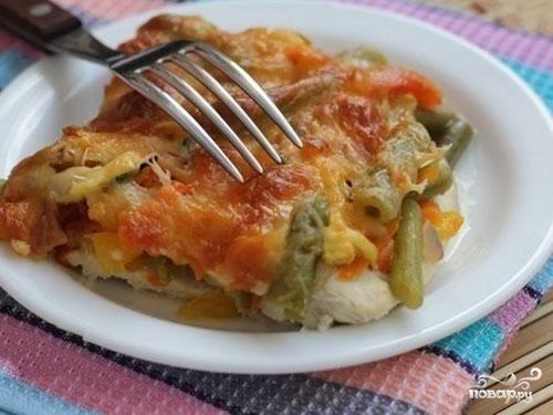 Курица с замороженными овощами