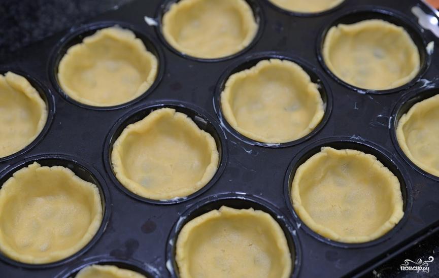 Тарталетки в духовке с начинкой - фото шаг 3