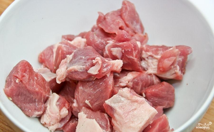 Слоеная картошка со свининой - фото шаг 4