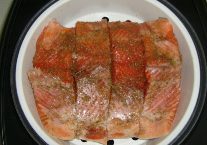 Красная рыба на пару - фото шаг 3
