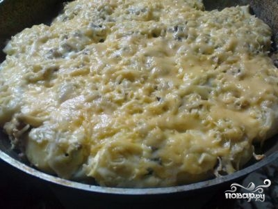 Картофель с грибами и курицей - фото шаг 7