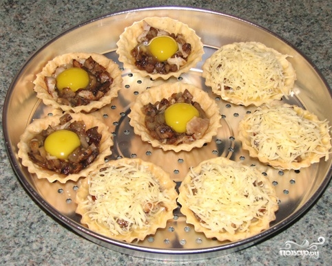 салат в тарталетках рецепт начинки
