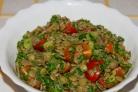 Салат из консервированной чечевицы