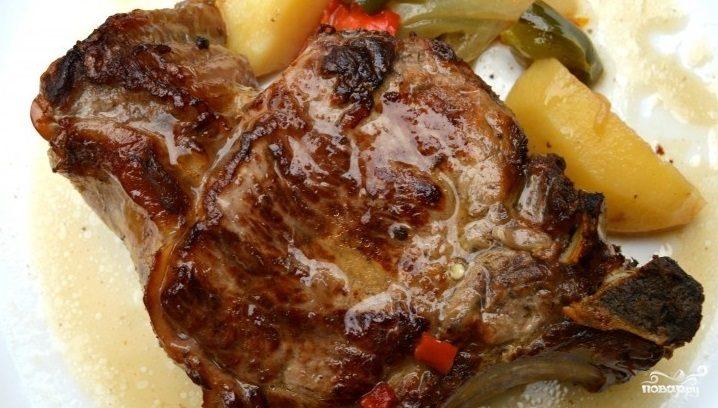 мясо на косточке в духовке в фольге рецепт