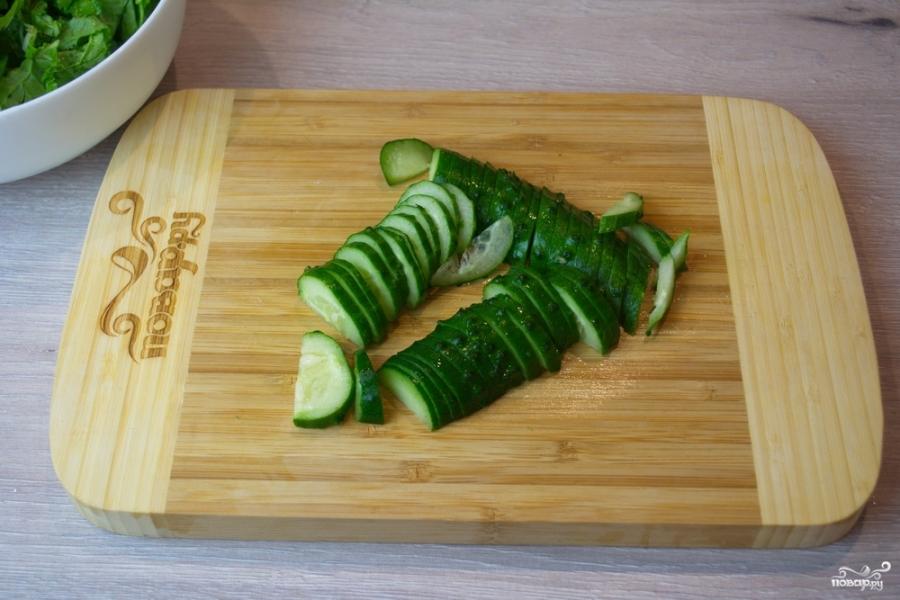 Диетический салат с пекинской капустой - фото шаг 3