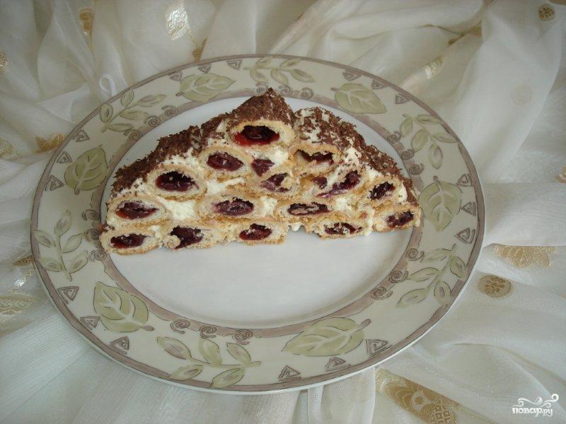"""Торт """"Монастырская изба"""" с вишней - фото шаг 13"""