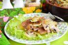 Картофельная запеканка с грибами и чесноком