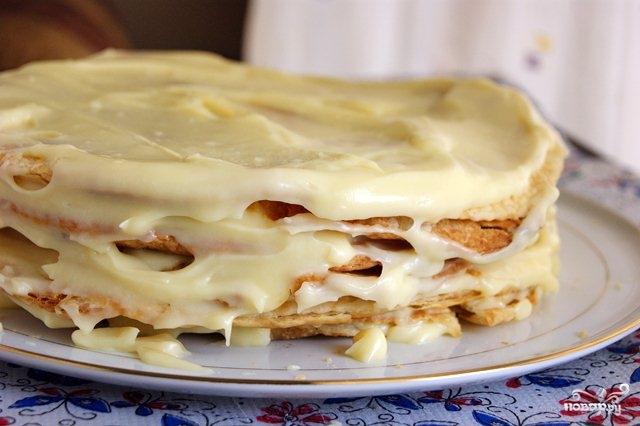 Торт с готового слоёного теста