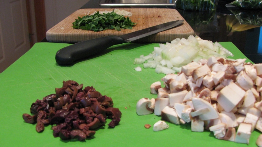 Рецепт Кабачки в духовке с фаршем