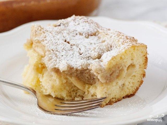 Пирог сметанный с яблоками