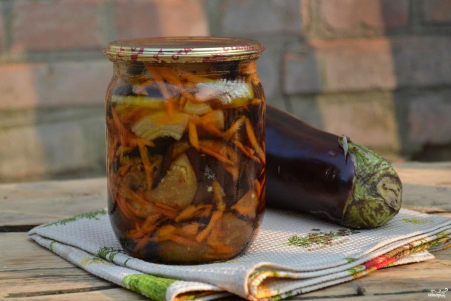 Маринованные баклажаны с морковкой и луком - фото шаг 7